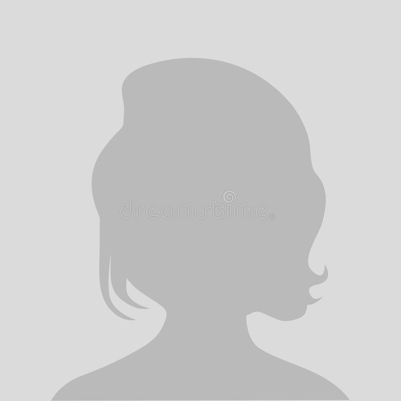 默认具体化外形象,灰色照片占位符妇女 皇族释放例证