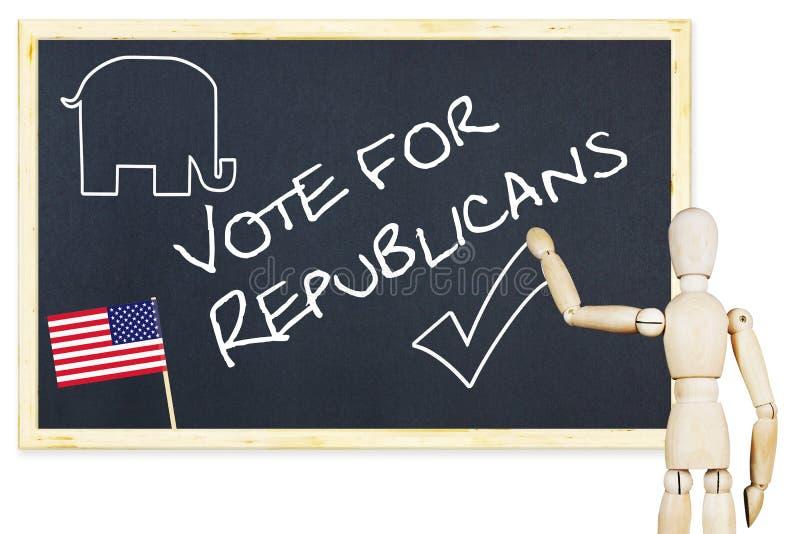 鼓动者鼓励投票支持美国竞选的共和党人 免版税图库摄影
