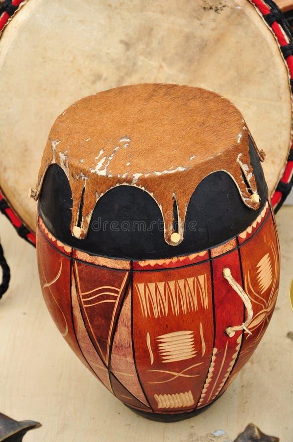 鼓印第安传统 免版税库存照片