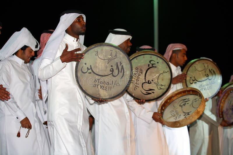 鼓手伙计qatari 免版税库存图片