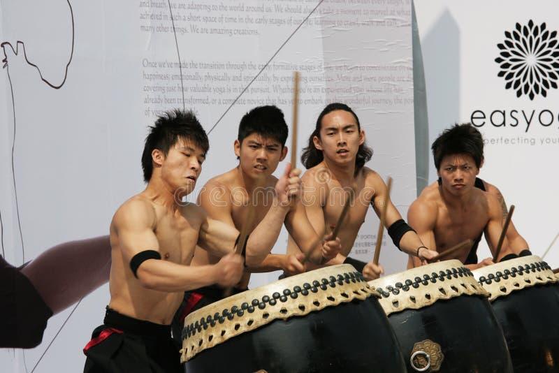 鼓手日本式 免版税库存照片
