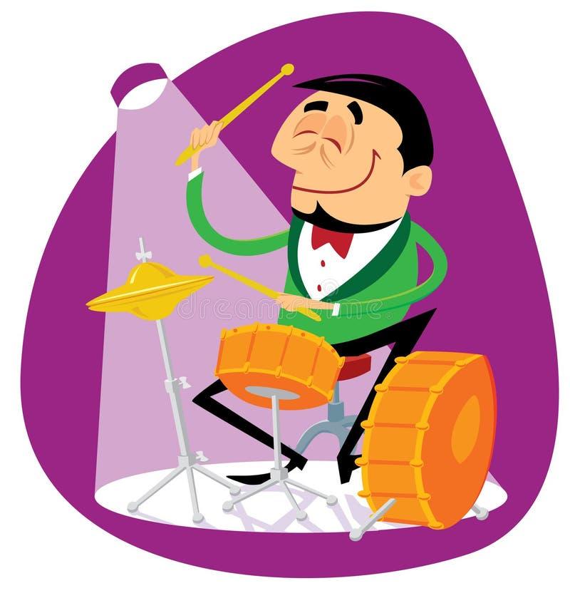 鼓手爵士乐 皇族释放例证