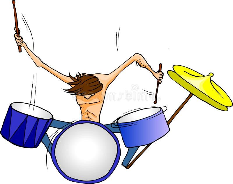 鼓手 向量例证