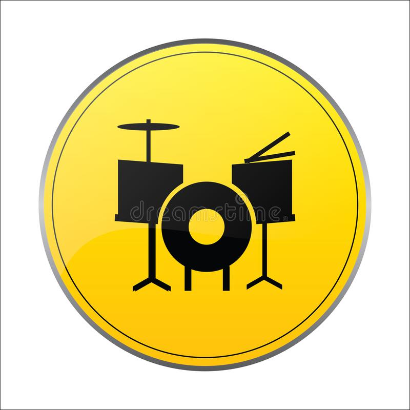 鼓音乐带标志 库存例证