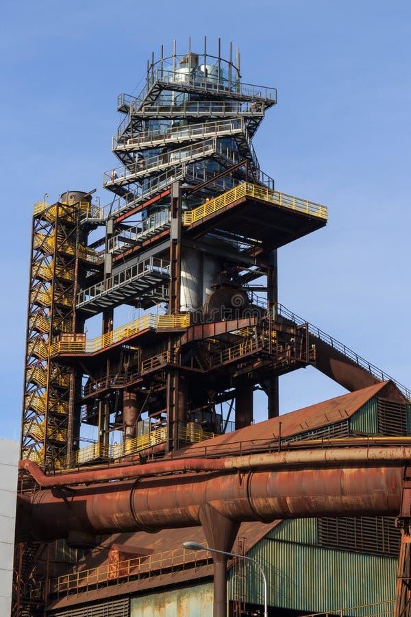 鼓风炉在俄斯拉发市 库存图片
