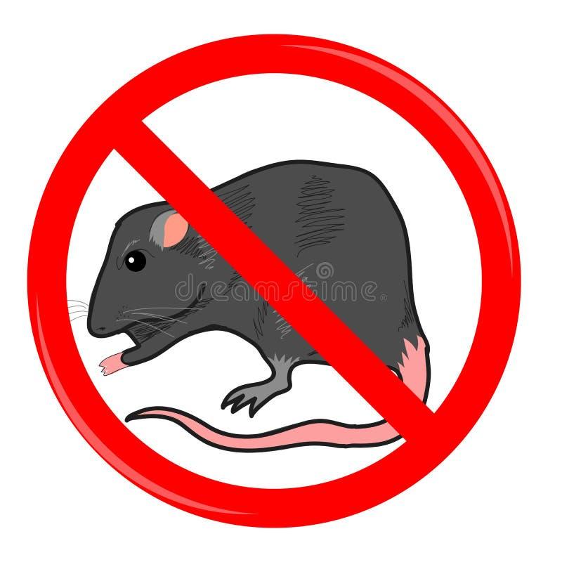 鼠停车牌 库存例证