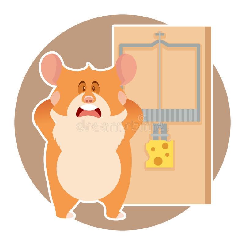 仓鼠和捕鼠器 向量例证