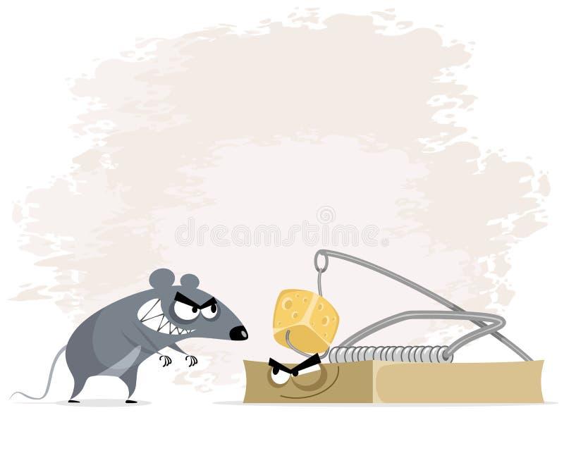 鼠和捕鼠器 向量例证