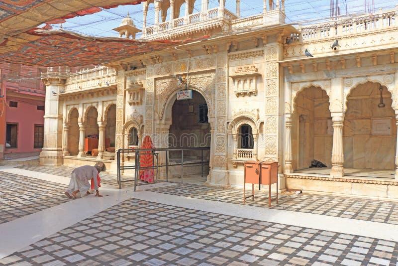 鼠寺庙入口deshoke印度 库存图片
