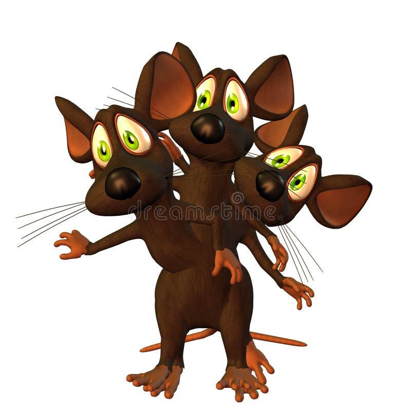 鼠标三胞胎 皇族释放例证
