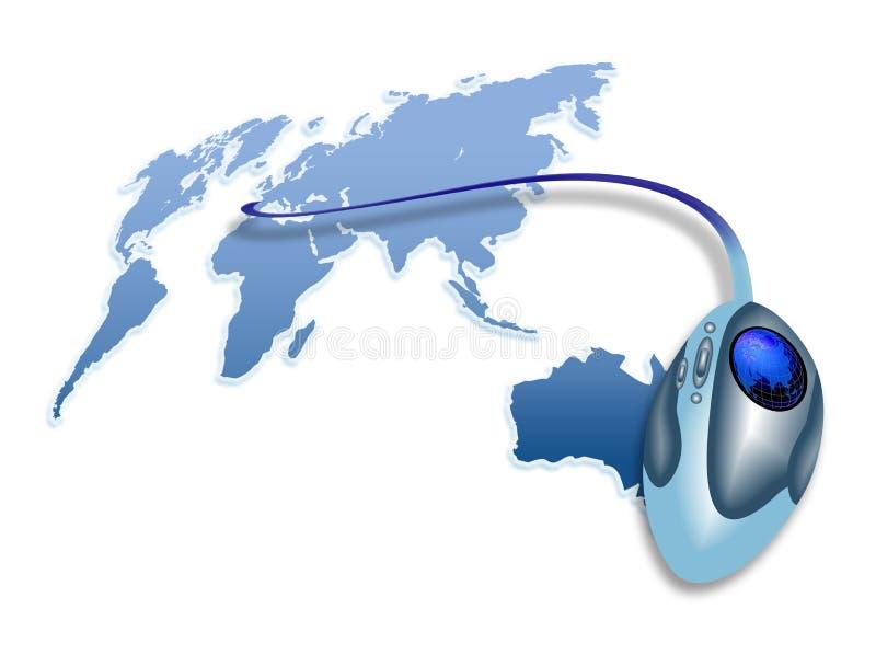 鼠标世界 向量例证