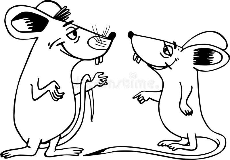 鼠标二 皇族释放例证