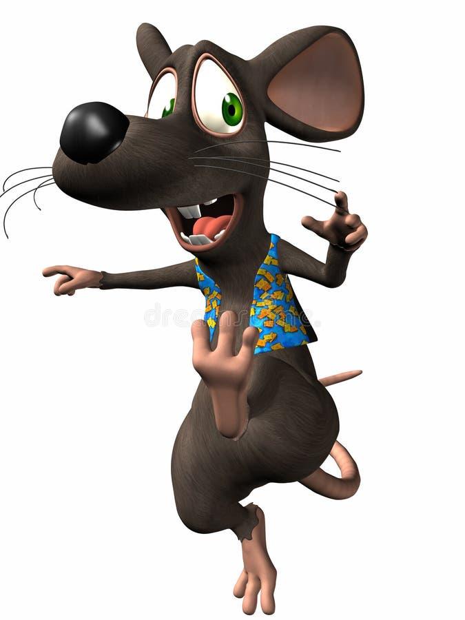 鼠标印度桃花心木 向量例证
