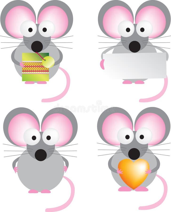 鼠标集 皇族释放例证
