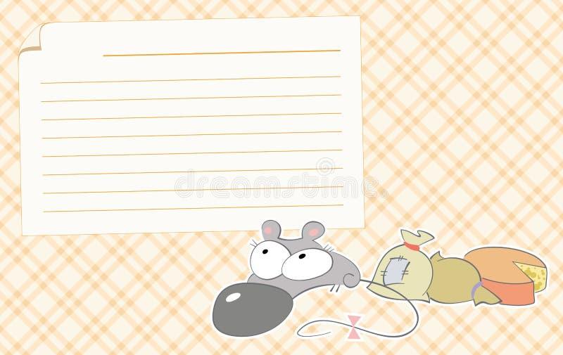 鼠标食谱 库存例证