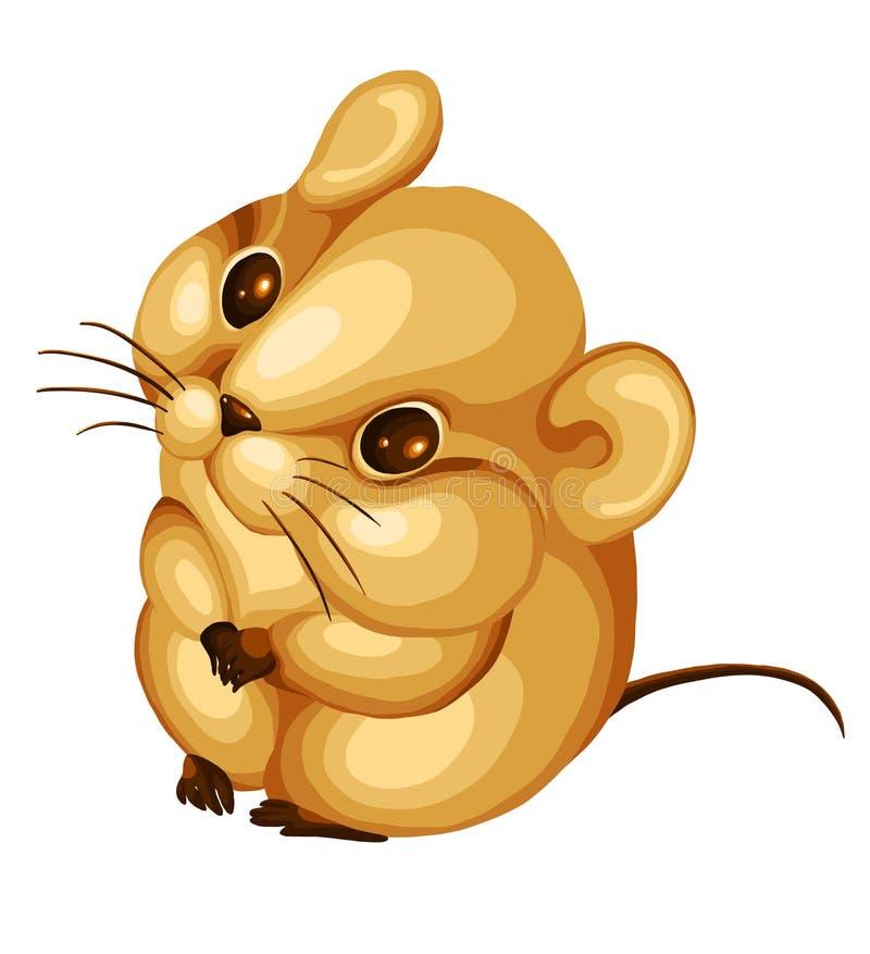 老鼠仓鼠啮齿目动物字符动画片人类样式黑猩猩与例证打架图片