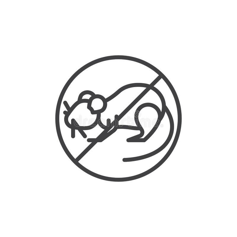 鼠虫不排行象 库存例证