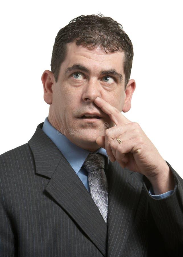 鼻子挑选 免版税图库摄影