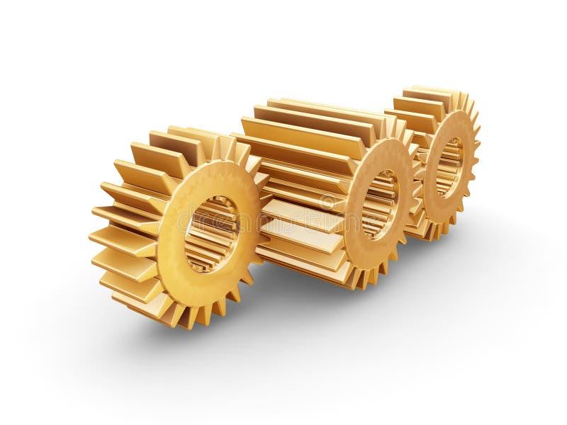 齿轮互锁 向量例证