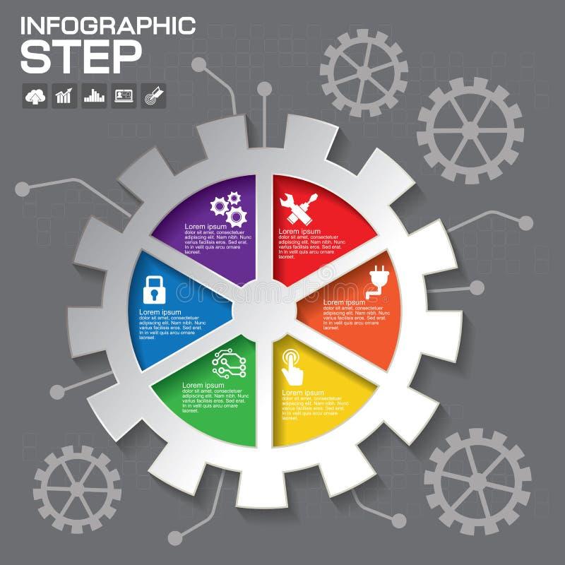 齿轮信息图形设计,企业构思设计 向量例证