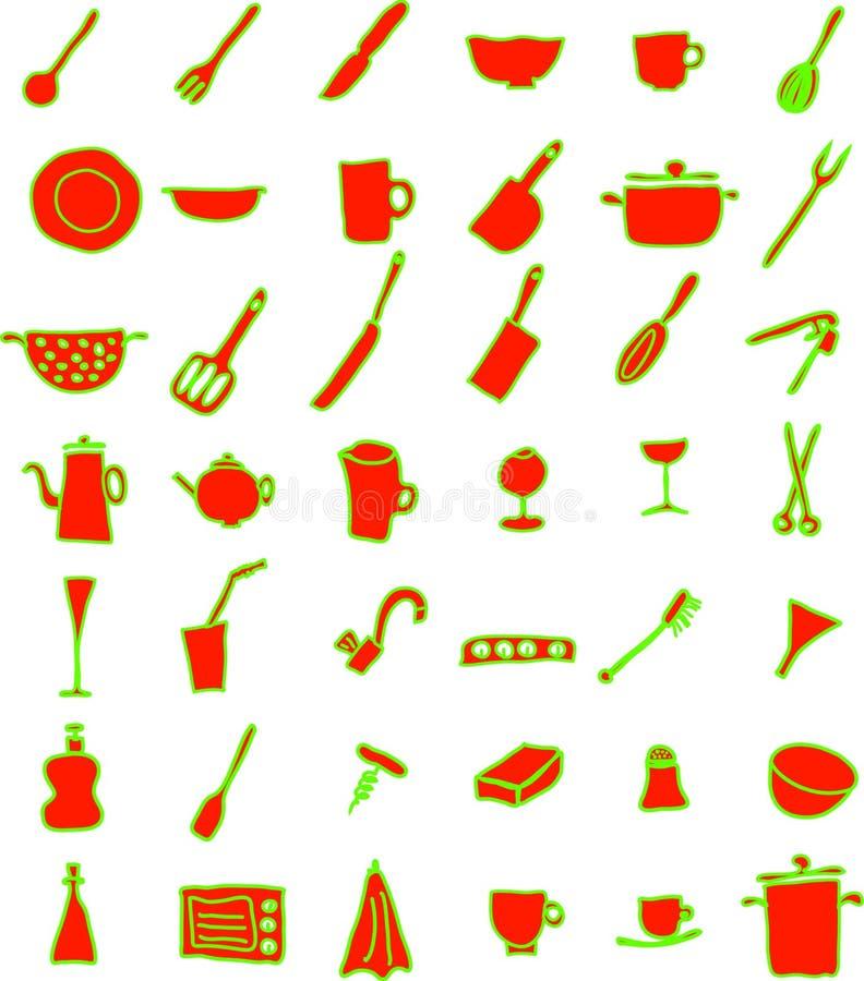 齿轮厨房 免版税库存图片