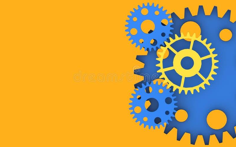 齿轮启发创造性背景 皇族释放例证