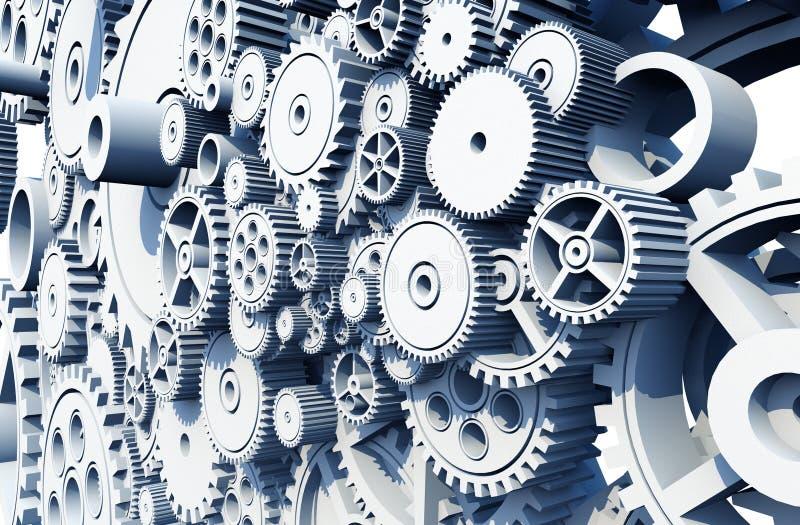齿轮和嵌齿轮轮子 库存例证