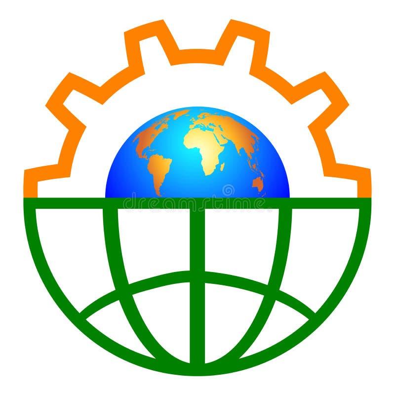 齿轮地球 向量例证