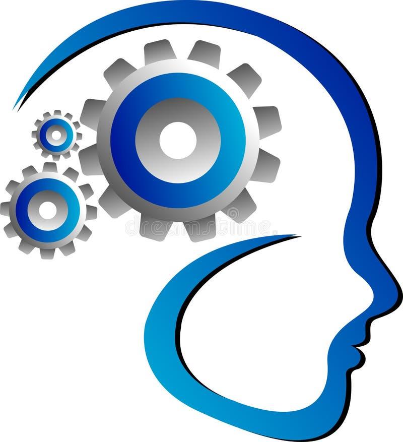 齿轮头脑 库存例证