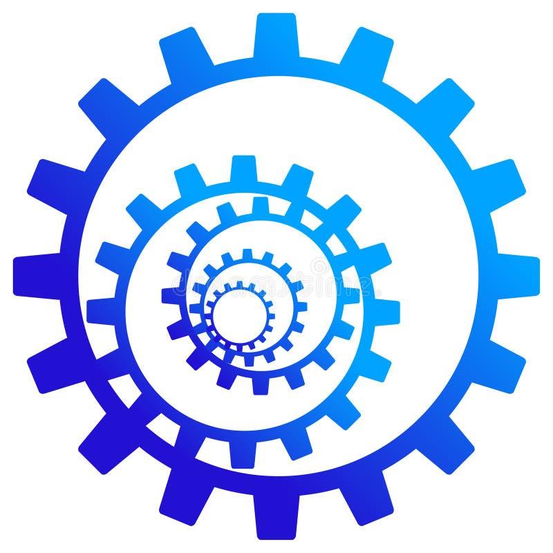 齿轮徽标轮子 皇族释放例证