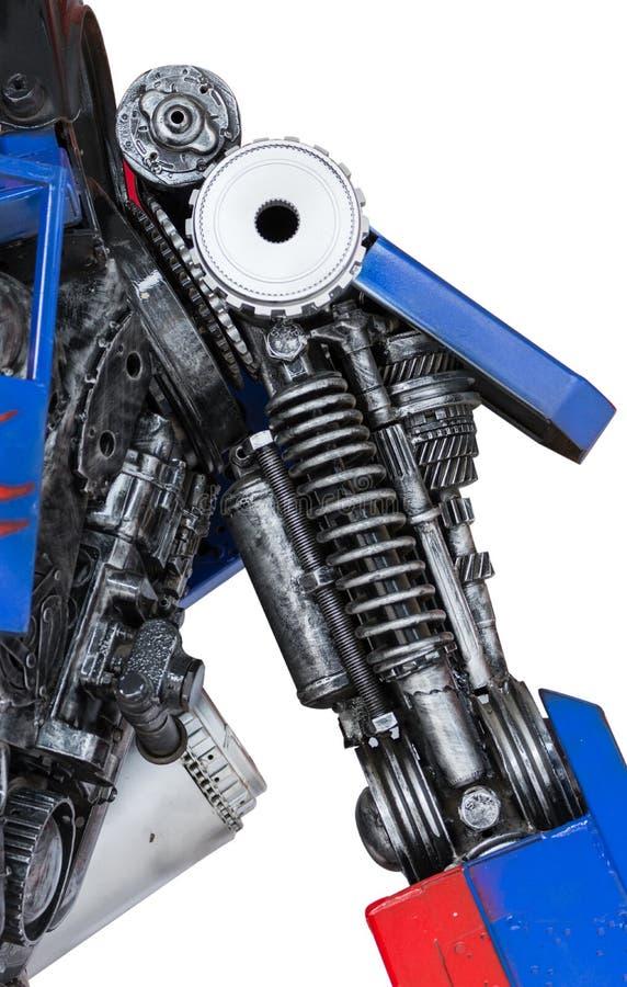 齿轮机器零件机器人 免版税库存图片