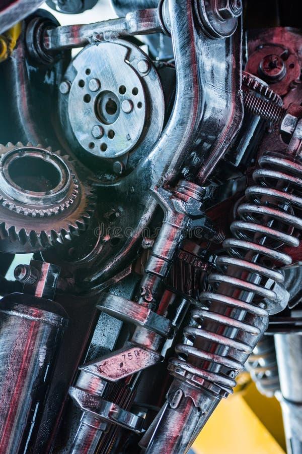 齿轮机器零件机器人 免版税图库摄影