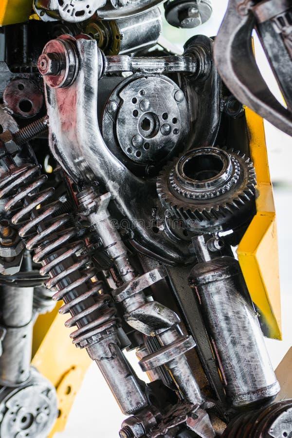 齿轮机器零件机器人 免版税库存照片