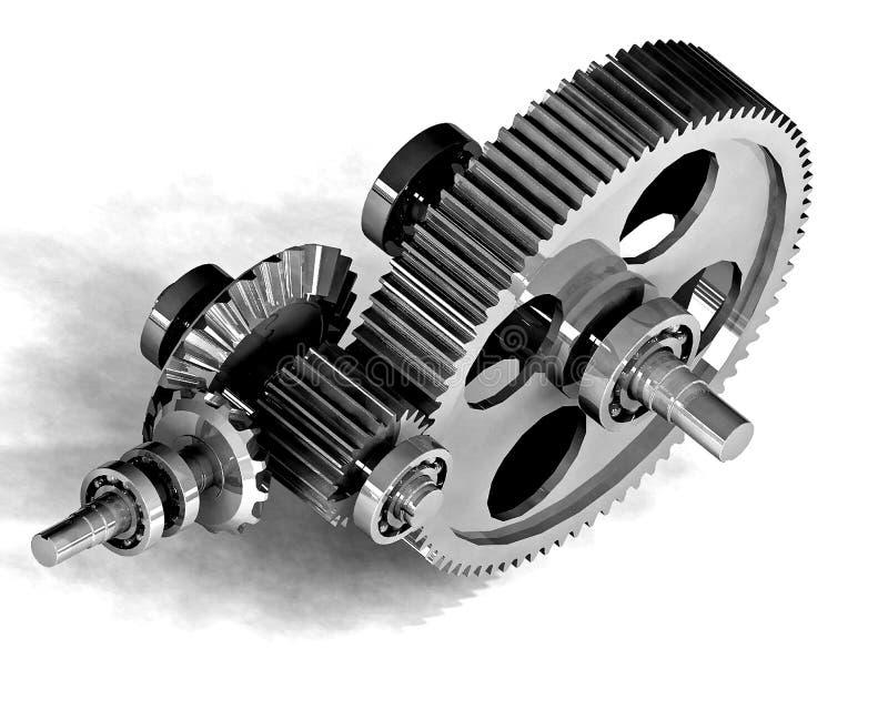 齿轮机械金属 向量例证