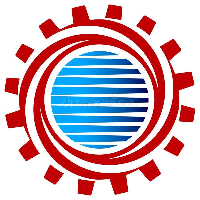 齿轮漩涡 向量例证