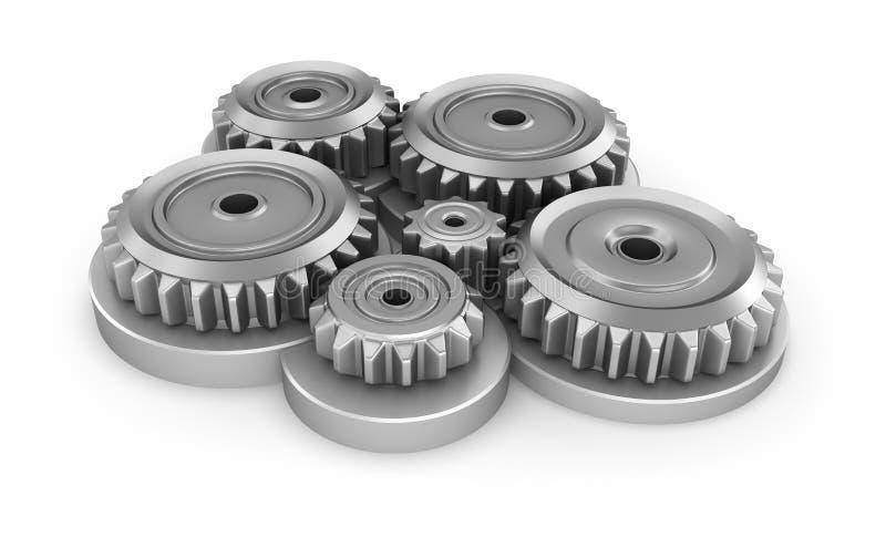 齿轮系统 库存例证