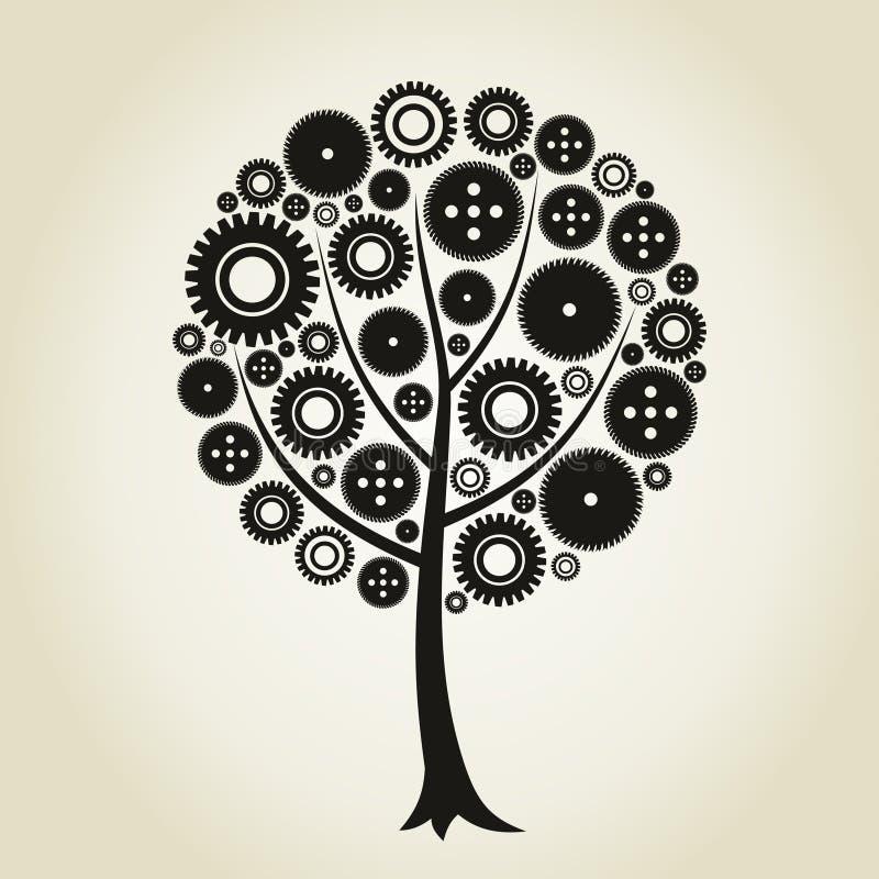 齿轮结构树轮子 库存例证