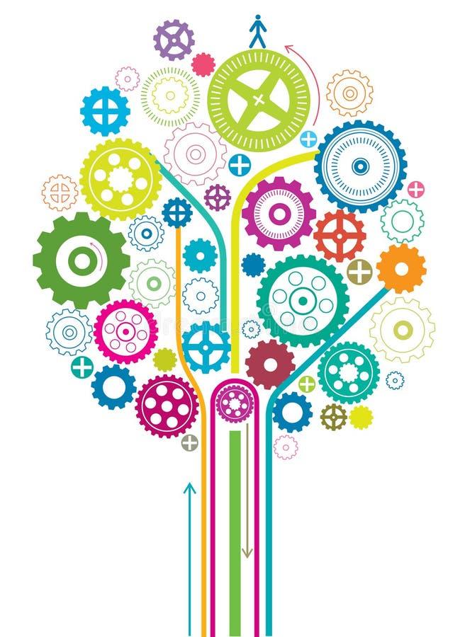 齿轮结构树 库存例证
