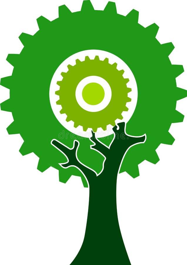齿轮结构树 皇族释放例证