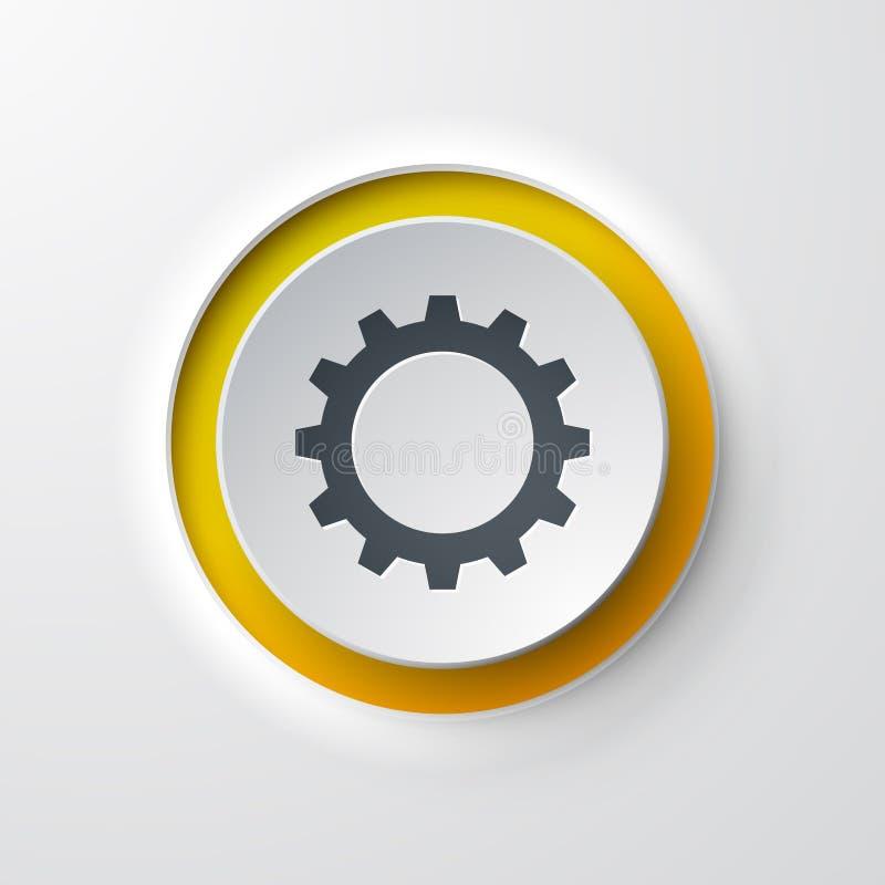 齿轮网象按钮 库存例证