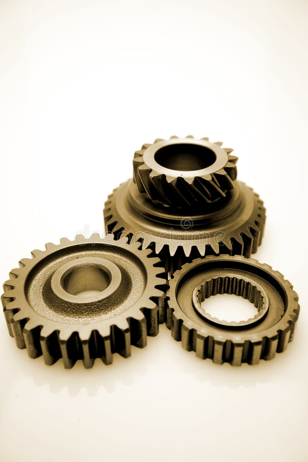 齿轮金属化三 免版税库存照片