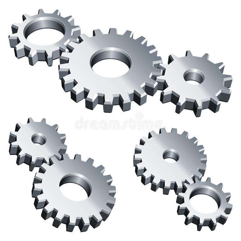齿轮金属 向量例证