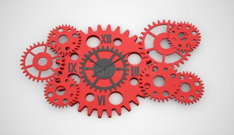 齿轮,被回报的手表里面概念 向量例证