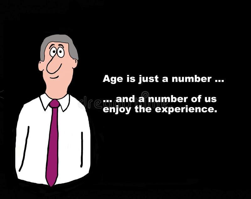 年龄是数字 库存例证