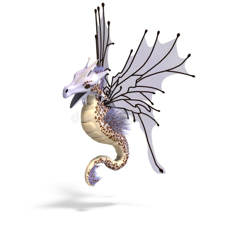 龙仙境幻想 向量例证