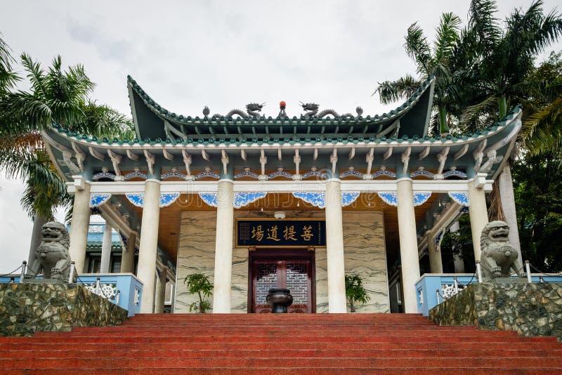 龙华寺庙在达沃市-菲律宾 库存照片