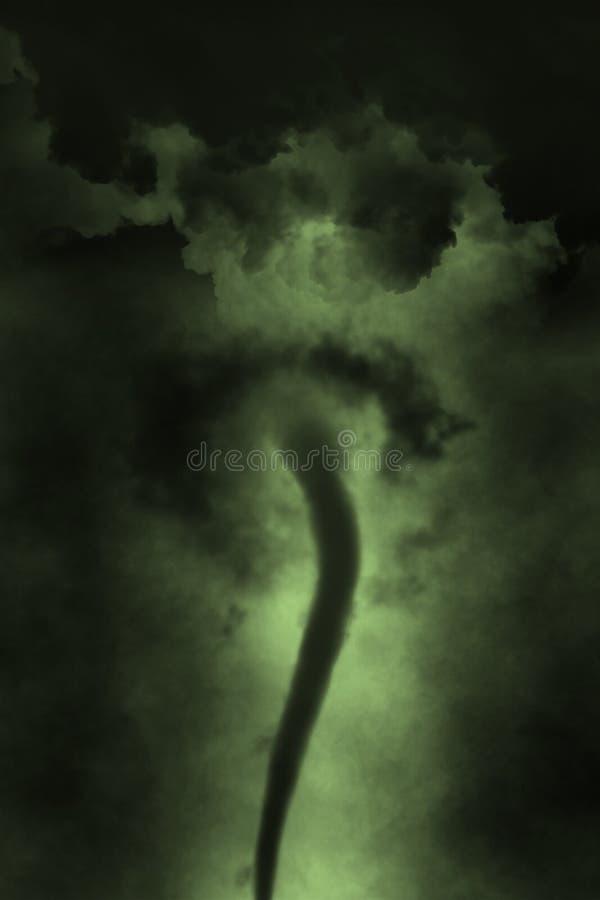 龙卷风风暴漏斗云彩扭转者 向量例证