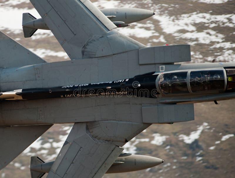 龙卷风GR4/GR4A欠平实飞行威尔士 免版税库存图片