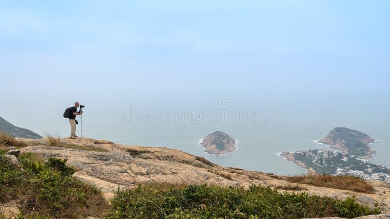 龙后面足迹在香港 图库摄影