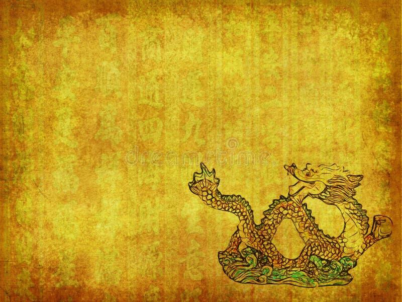 龙和纹理背景 库存照片